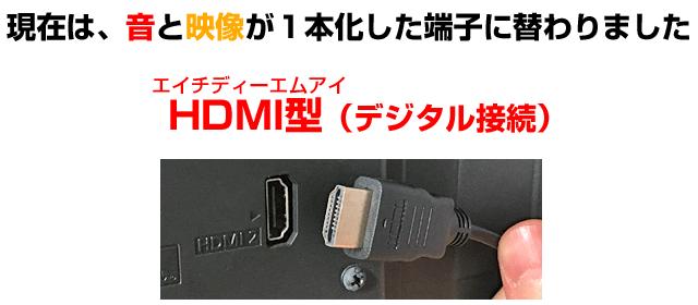 デジタルで1本化したHDMI