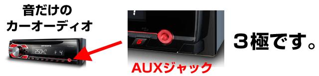 カーオーディオのAUXは3極