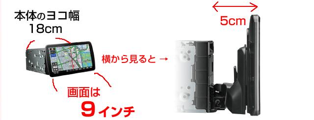CN-F1XVDの液晶モニター