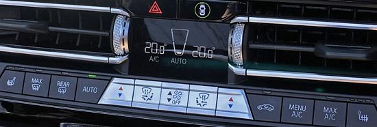 エアコンデュアル調節スイッチ。シートヒーター付き