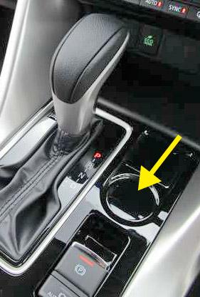 2WDモデルにはS-AWCボタンが無い。