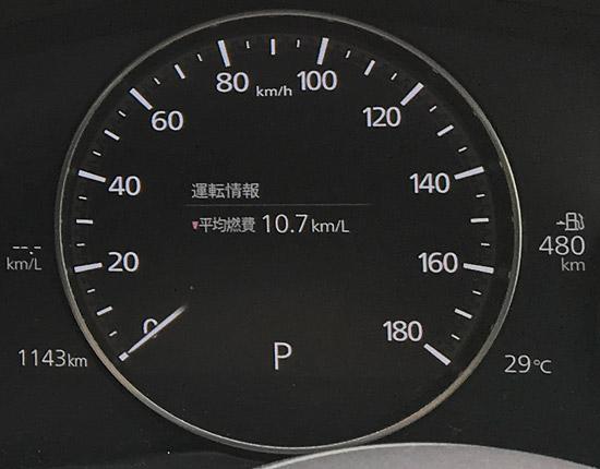 マツダ3XDの液晶スピードメーター