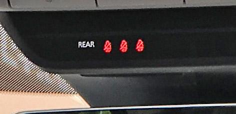 シートベルト警報ランプ