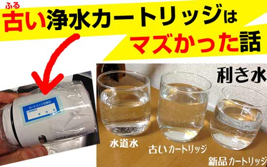 クリンスイCSP701で浄水器の飲み比べ。味の比較