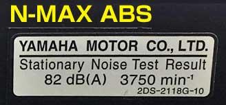 N-MAXの82dB、3,750rpm