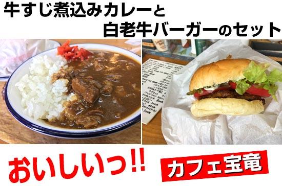美味しい北海道ツーリングめし。カレーと白老牛ハンバーガー