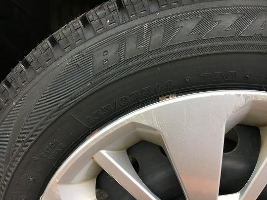 パッソのタイヤサイズ165/65R14