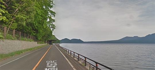 支笏湖付近にはなにもありません。