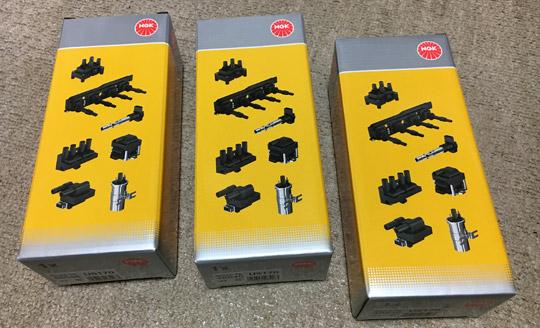 ソニカにNGKイグニッションコイルU5170を3本購入