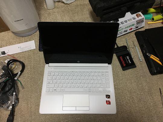 HP 14s-dk0101AUのディスプレイはフルHDのIPSパネル