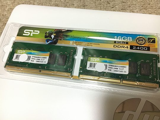 シリコンパワー 8GBメモリ×2個