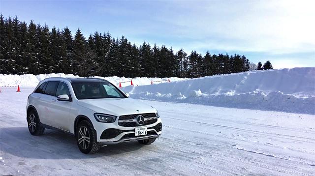 GLC220d 4maticで雪上ブレーキ性能を試す