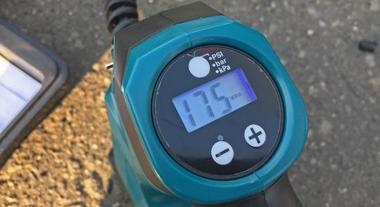 空気圧チェックが可能です。