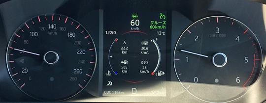 ヴェラール時速60km/hのエンジン回転数