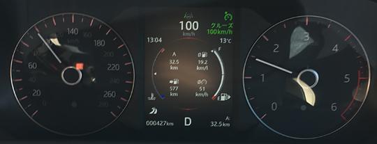 ヴェラール時速100km/hのエンジン回転数