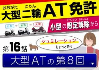 大型自動二輪ATスクーター限定免許、第8回