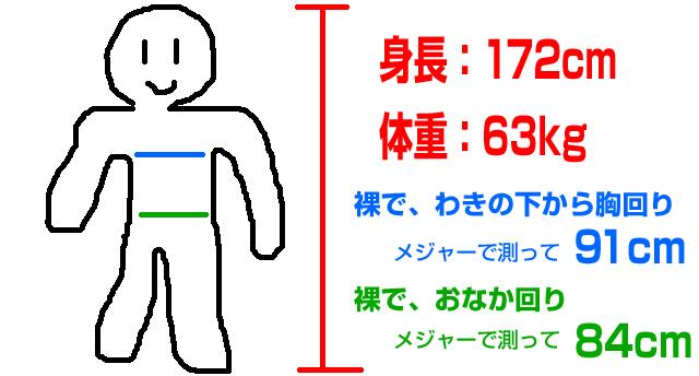 MサイズのEK-108を173cm63kgの人が着る