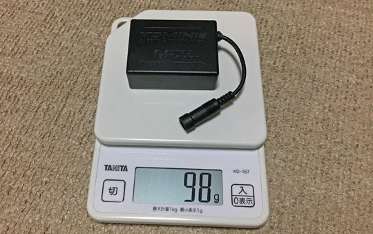 EK-209の重さは100グラム