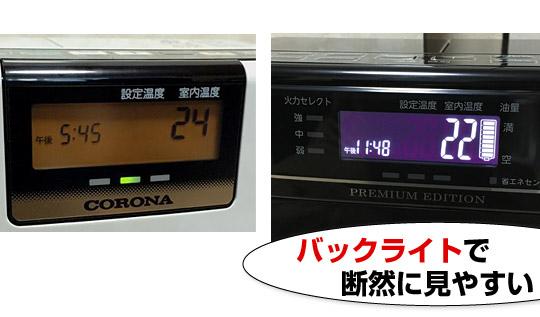 FH-WZ3620BYはバックライト液晶機能で見やすい