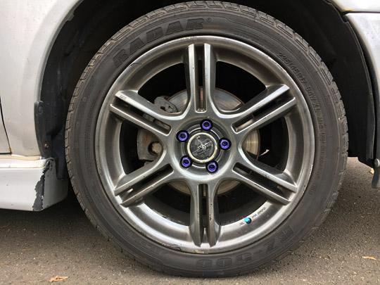 GDWRXのタイヤ
