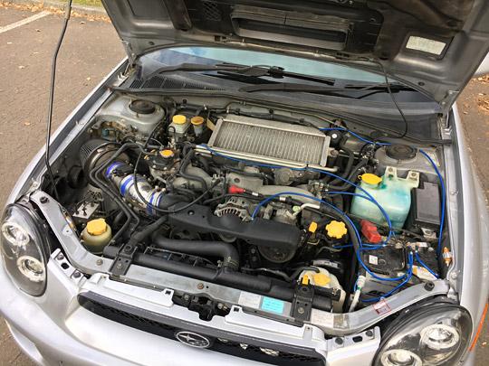 GDWRXのエンジンルーム