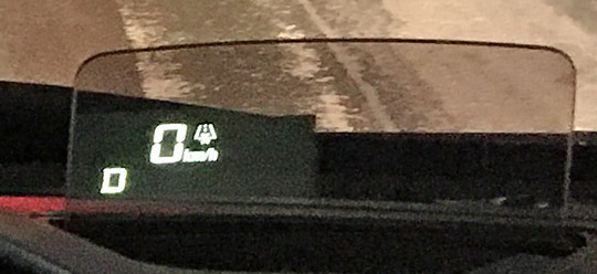 ワゴンRのヘッドアップディスプレイ