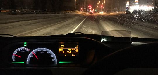 ワゴンRは時速40km/hで1800回転。60km/hでも同じ。