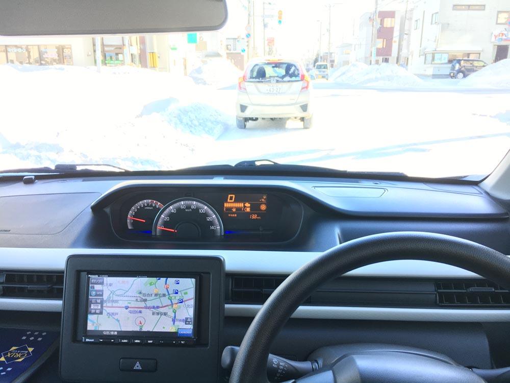 6代目ワゴンR・FXハイブリッド4WDで雪道走行