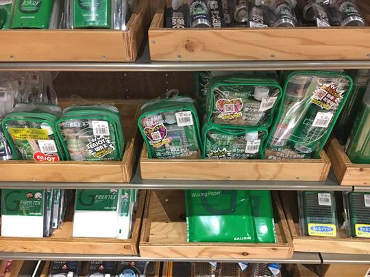 スキーショップにはガリウムのワックスセットが販売されています。