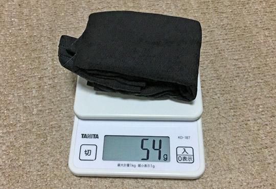 重さは54g