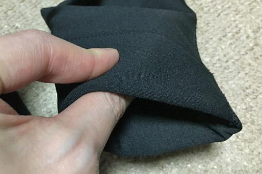 袖口の厚み