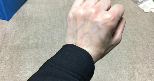 Mサイズと手首の位置