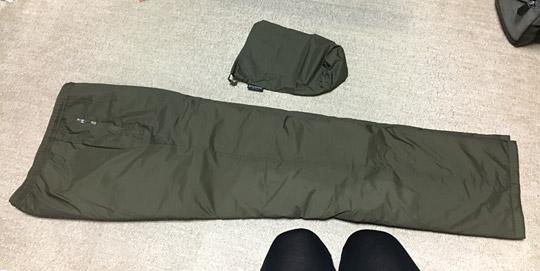 サーマラップパンツの巾着収納方法