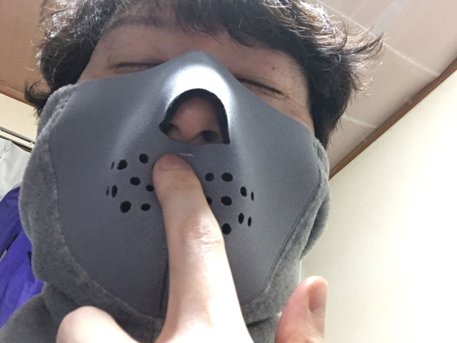 鼻呼吸が楽です。