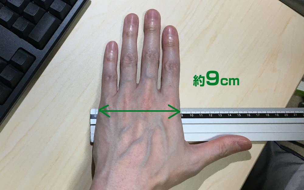 私の手の実寸サイズ2