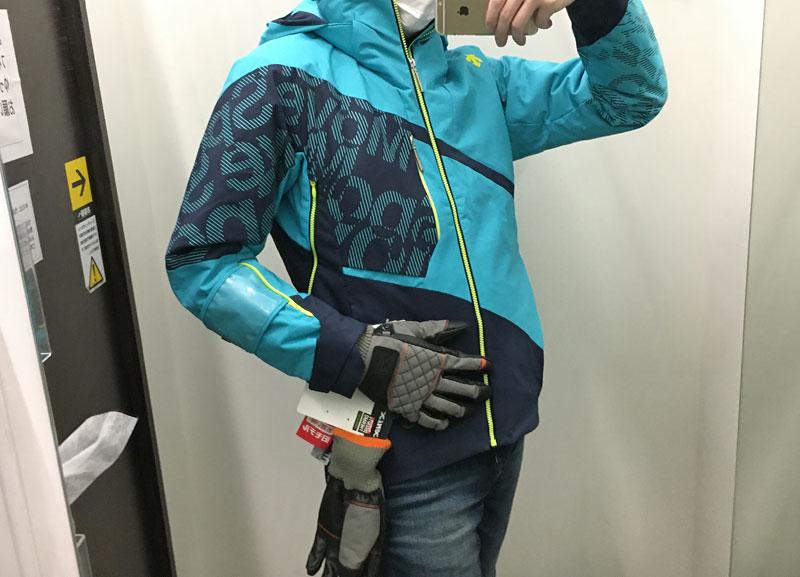 フィッティング。スキー手袋