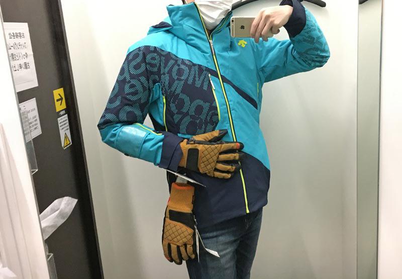 フィッティング。スキー手袋2