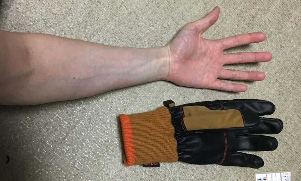 手袋の丈サイズ